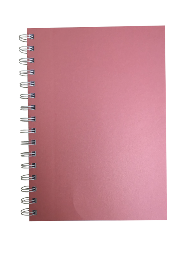 Persian Pink Pearlised A5 Plain Notepad 80gsm 70 Sheets