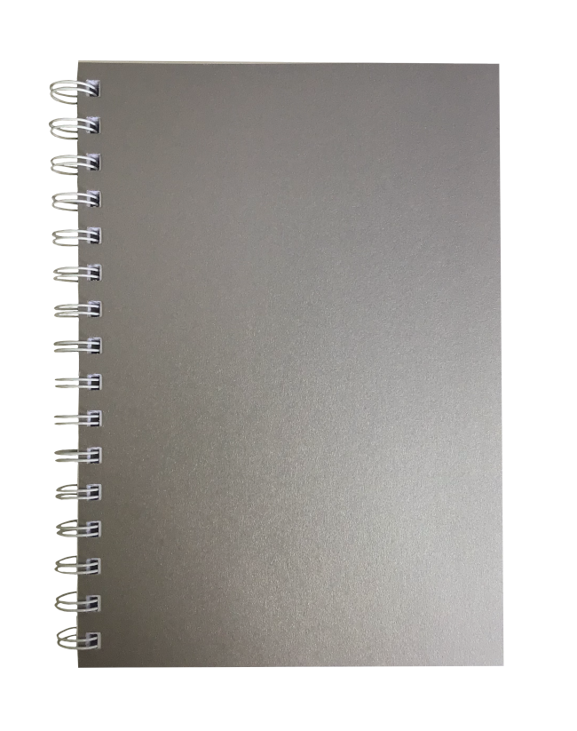 Titanium Pearlised A5 Plain Notepad 80gsm 70 Sheets