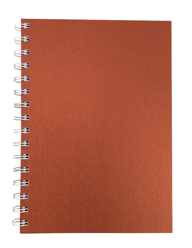Copper Pearlised A5 Plain Notepad 80gsm 70 Sheets