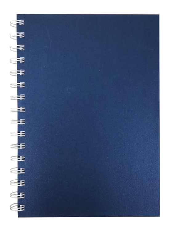 Sapphire Pearlised A5 Plain Notepad 80gsm 70 Sheets
