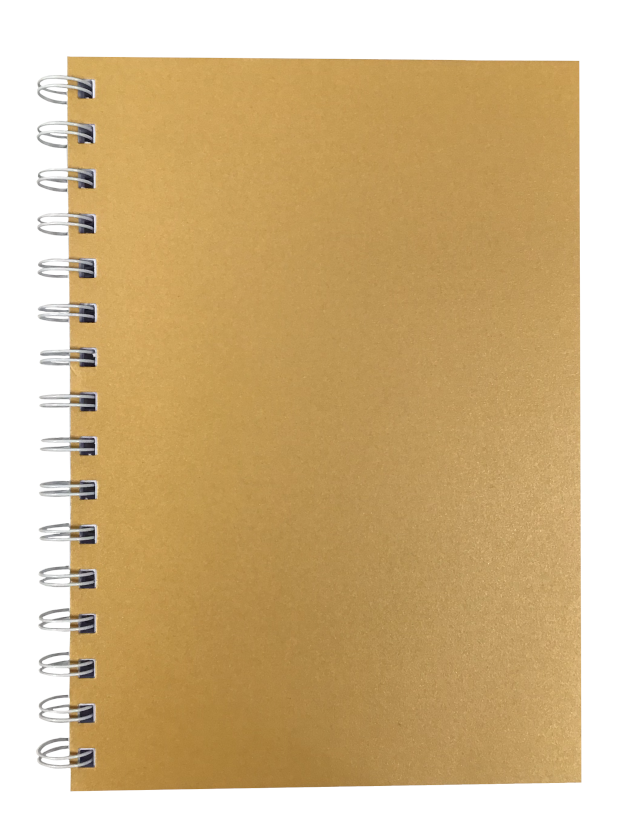 Amber Pearlised A5 Plain Notepad 80gsm 70 Sheets