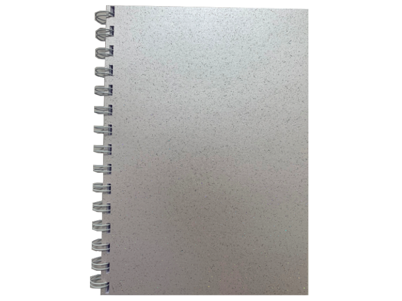 Orchid Sparkle Pearlised A5 Plain Notepad 80gsm 70 Sheets