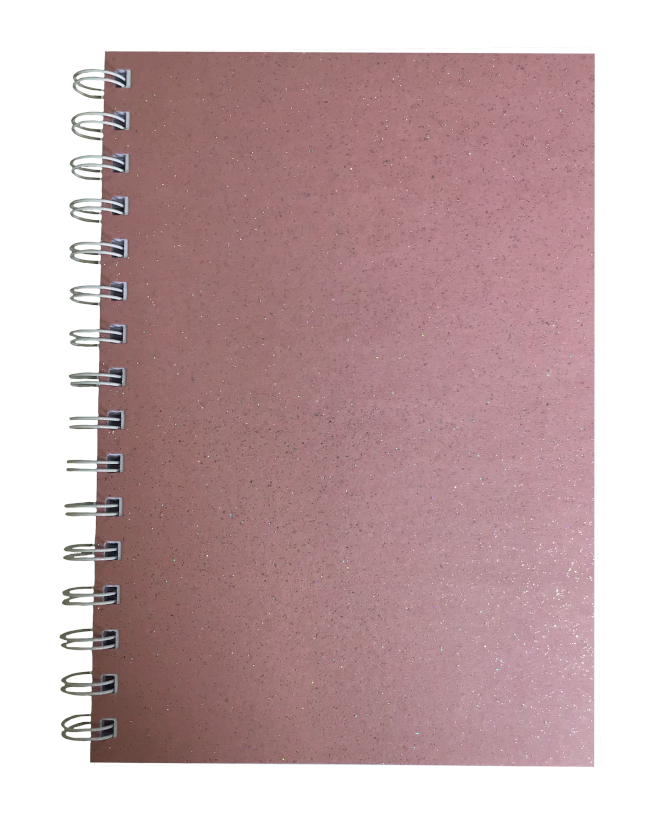Rosa Sparkle Pearlised A5 Plain Notepad 80gsm 70 Sheets
