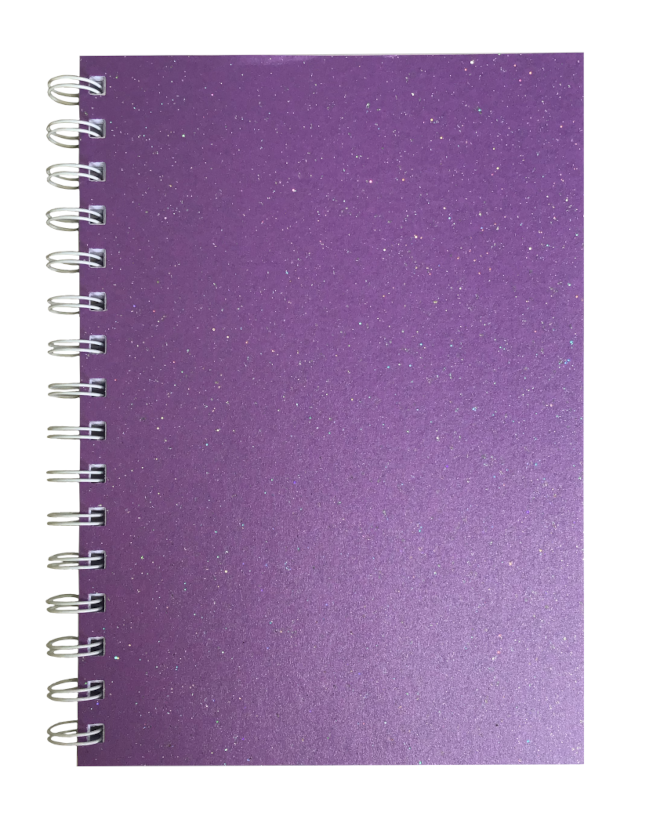 Periwinkle Sparkle Pearlised A5 Plain Notepad 80gsm 70 Sheets