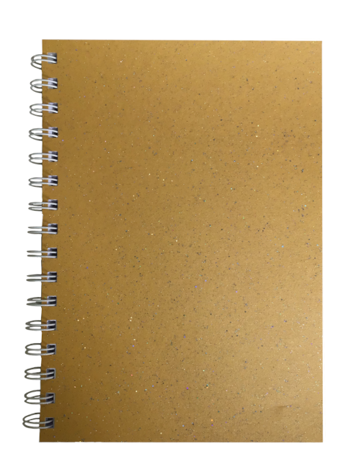 Amber Sparkle Pearlised A5 Lined Notepad 80gsm 70 Sheets
