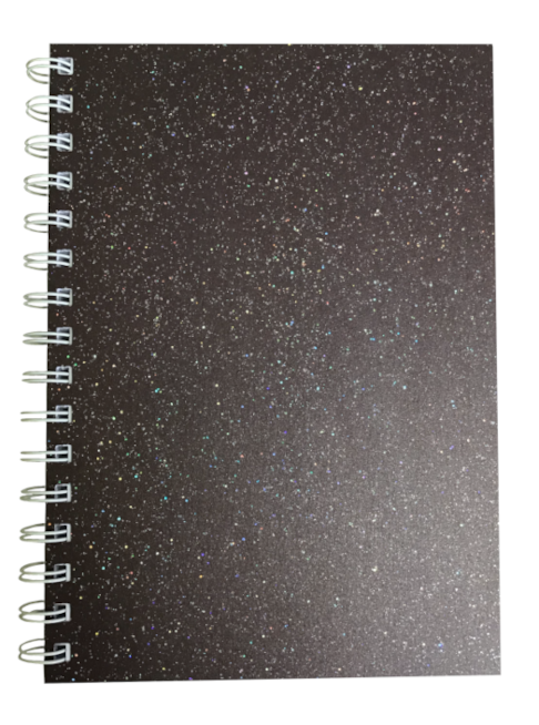 Bon Bon Brown Sparkle Pearlised A5 Lined Notepad 80gsm 70 Sheets